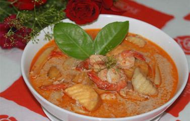 Cách làm món Cà ri tôm vị Thái Lan ngon tuyệt