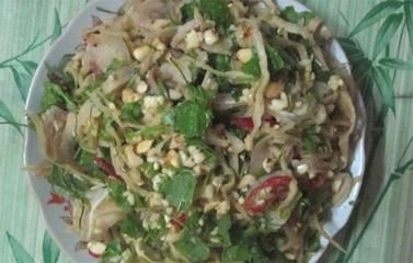 Thưởng thức món Nộm củ cải khô đúng chất xứ Nghệ