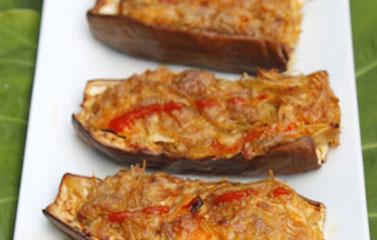 Cà tím nhồi tôm thịt nướng