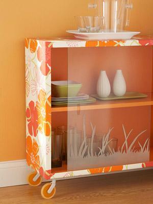 Đồ nội thất đẹp sử dụng giấy dán tường