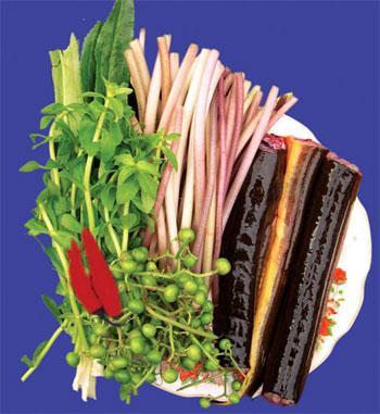 Lươn nướng lá chanh - món ăn khoái khẩu