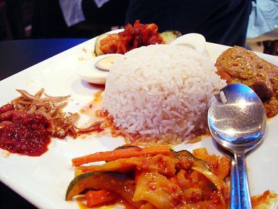 Món Nasi Lemak truyền thống.