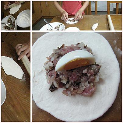 Cách làm bánh bao nhân thịt, trứng