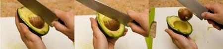 Hướng dẫn cách cắt bơ nhanh và đẹp, Bếp Eva, Meo hay nha bep, meo nha bep, meo vat nha bep, meo vat, mẹo gọt bơ, bep