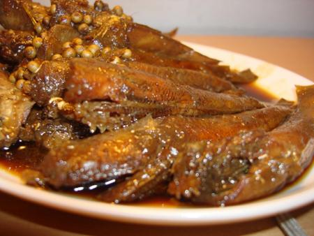 Món ngon Quảng Ninh: Cá bống sú kho lá ổi