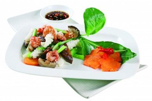 Xanh mướt, thanh ngọt ngồng cải, Ẩm thực, am thuc, ngong cai xao, hai san, sa lat, cai cuon thit bo, bao