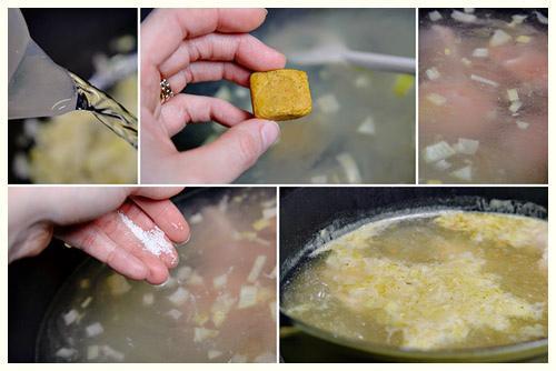 Ngon ngọt khó quên súp thịt gà khoai tây bắp