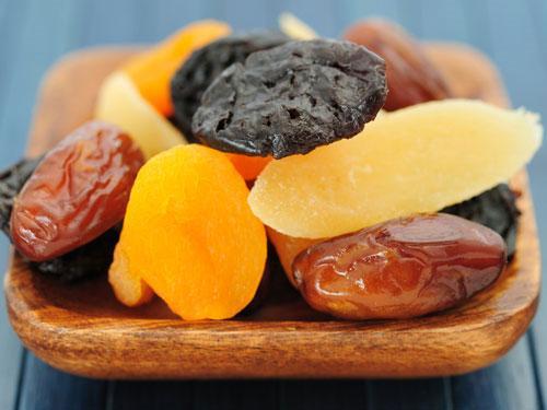 Nguồn năng lượng trừ trái cây sấy khô