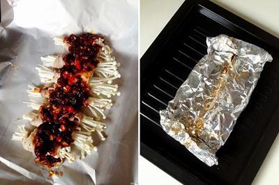Bò cuộn nấm nướng giấy bạc: chỉ nhìn thôi đã thèm 4