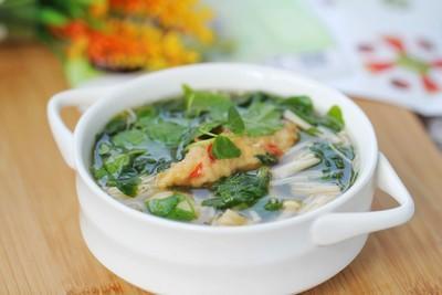 Thực đơn cơm tối: Đậu nhồi thịt chiên và canh rau càng cua 26