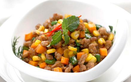 Món ngon mỗi ngày - Thịt xay kho bắp đậu