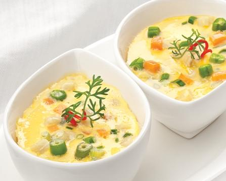 Món ngon mỗi ngày - Trứng hấp rau củ