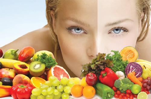 Để có là da đẹp cần phải dùng nhiều trái cây và rau xanh