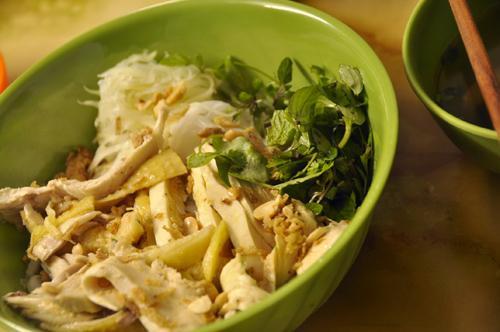 Phở gà trộn - các món trộn ở Hà Nội