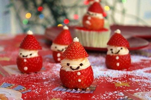 Ông già Noel bằng dâu tây xinh yêu