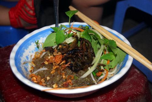 Miến trộn lươn - các món trộn ở Hà Nội