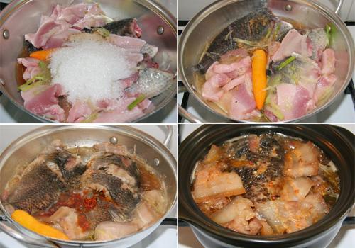 Cá rô kho thịt ba rọi 2 - amthuc365.vn