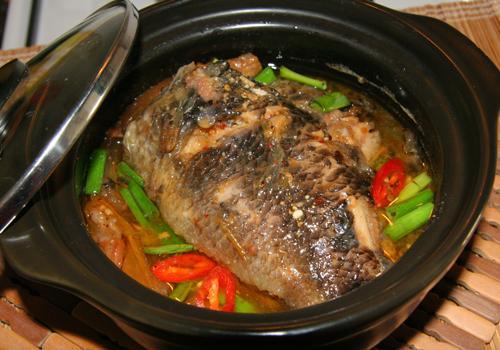 Cá rô kho thịt ba rọi 3 - amthuc365.vn