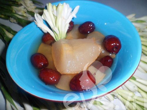 Chè quả lê táo đỏ 1