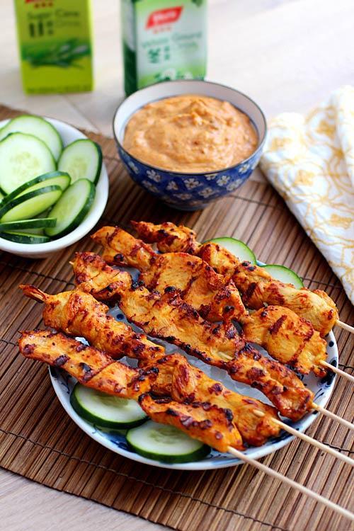 Thịt gà nướng xiên kiểu Thái - 4