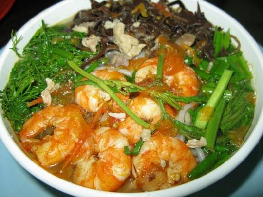 Bún tôm - Thưởng thức ẩm thực Cát Bà 7