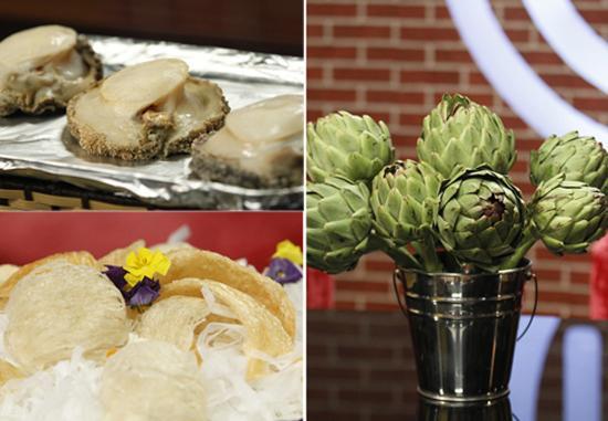 Bào ngư, tổ yến và hoa atiso là ba nguyên liệu đắt tiền để thử thách các thí sinh. Ảnh: A.N.