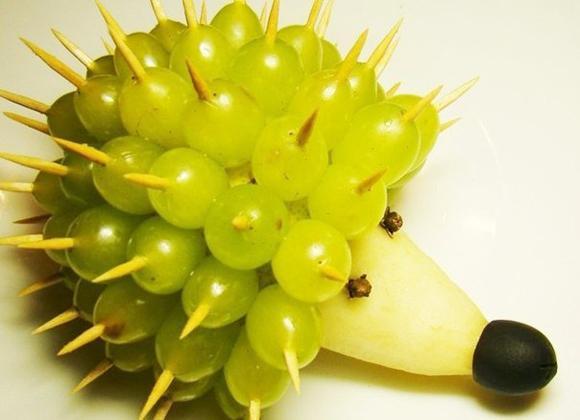 Hô biến trái cây thành chú nhím dễ thương